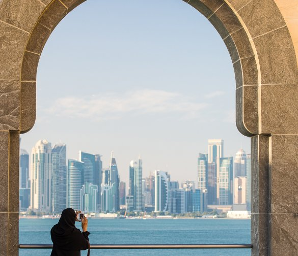 view from qatar building