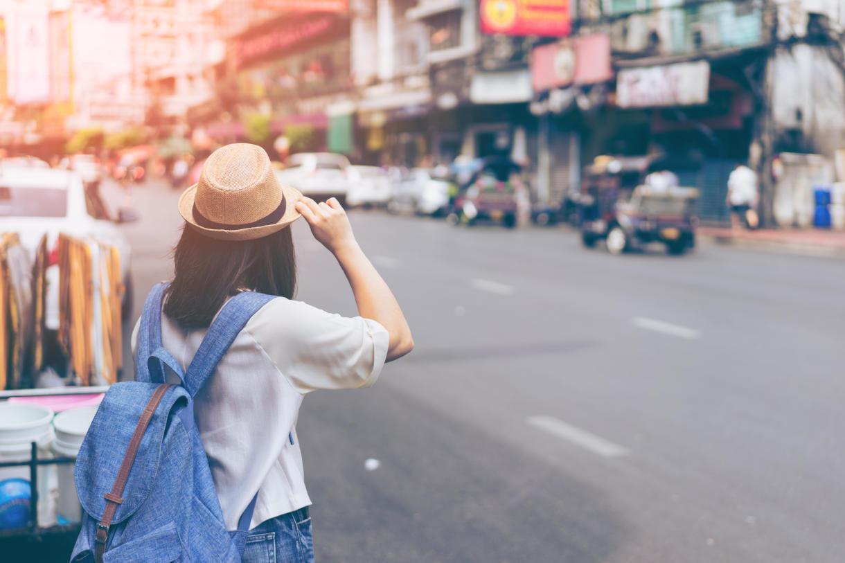 tourist on thai street