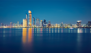 night view of abu dhabi